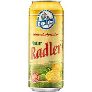 24 Dosen a 0,5 L Mönchshof Natur Radler a 500ml Kulmbacher inc. 6.00€ EINWEG Pfand