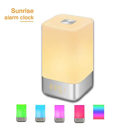 GLIME Wake Up Light Alarm Clock Touch Control Beside Lamp with Sunrise  Simulation 3 Brightness aef7d746e