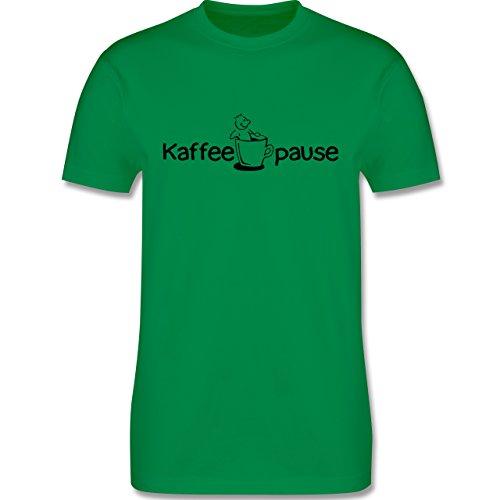 Küche - Kaffeepause - Herren Premium T-Shirt Grün