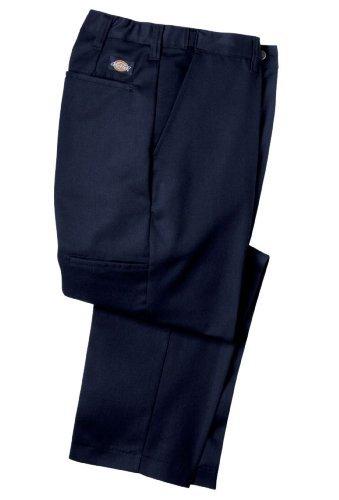 Dickies Littmann Workwear lp700nv Polyester/Baumwolle Relaxed Fit Herren Premium Industrie Flache Vorderseite Komfort Taille Hose mit geradem Bein, Marineblau, 34