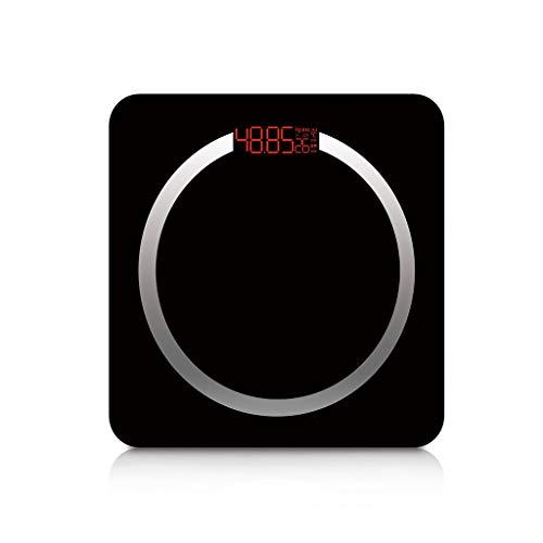 WANG Hohe Präzisions-Digital-Körper-wiegende Skalen BMI-Körper-Fett-Prozentsatz-Körper-Wasser, Das Einfach ist, Digital-Anzeige zu Lesen - Schwarzes (Fett Digitale Wasser-skala Und Körper)