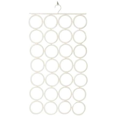 Ikea - Complemento suspensión clip de lazos, pañuelos blancos