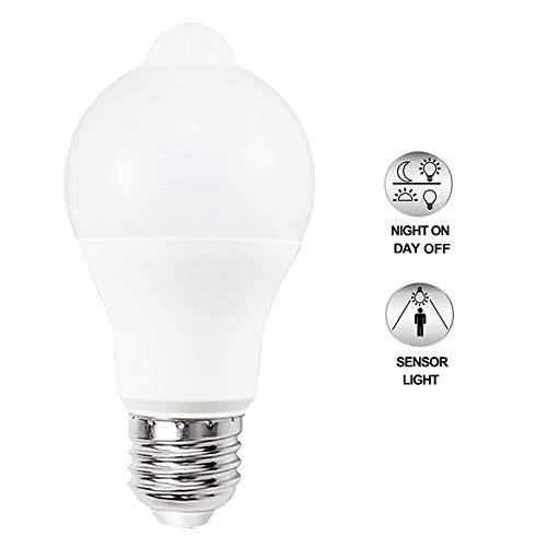 Dusk to Dawn Glühbirne E27, ZZM 8 W LED Auto Sensor Licht Ball Birne Nacht-Sicherheitsleuchte Outdoor/Indoor Beleuchtung Lampe für Veranda, Flur, Terrasse Warm Light