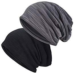 EINSKEY Mützen Herren Damen Sommer Dünn Slouch Long Beanie Mütze Skull Cap Sport Chemo Kopfbedeckung Set, Leicht und Weich