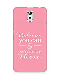 AMEZ believe you can and you are there halfway Back Cover For Lenovo Vibe P1M