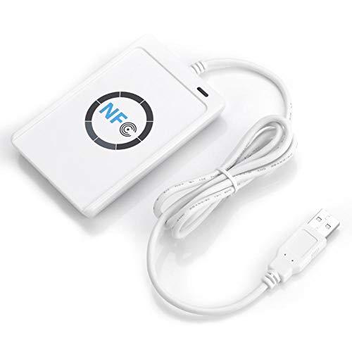 Huakii NFC RFID Leser/Schreiber, SDK 5xMifare IC ACR122U ISO 14443A/B + Freie Software in Weiß