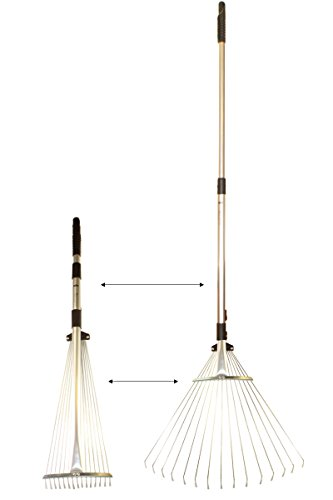 Florabest® Fächerbesen - Rechen - Laubbesen - Teleskopstil von 82 bis 160cm