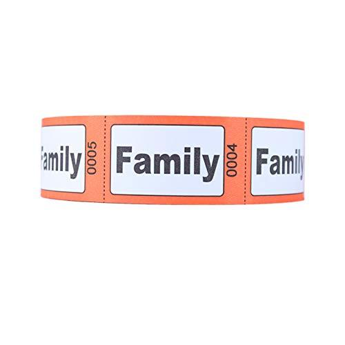 """Preisvergleich Produktbild Rollen-Eintrittskarten,  Aufschrift """"Family"""""""