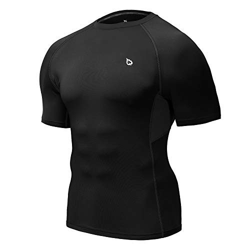 Sleeve Jogging Fitness trainieren Kompression Base Layer-Shirt schwarz Version zwei X-Large ()