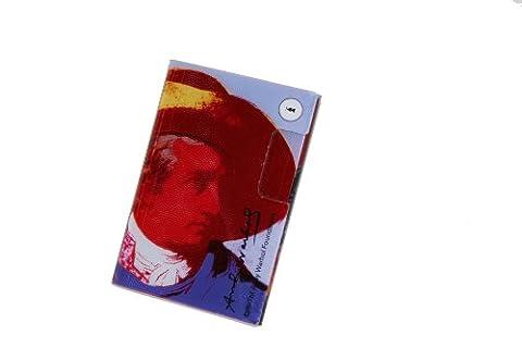 Andy Warhol by Troika Étui à cartes de visite fin avec deux compartiments pour salons et foires Acrylique Motif Goethe