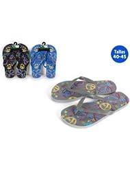 Aquapro Chaussures Plage Motif Peace Symbole Bleu