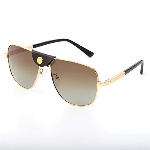LKVNHP Neue Hochwertige Polarisierte Sonnenbrille Männer Markendesigner Sonnenbrille Für Mann Hd Tac Polaroid Fahren Anti ReflektierenBraunSchwarz Uv400Braun
