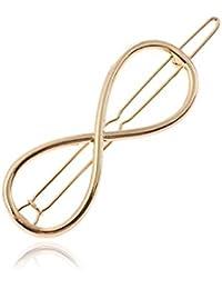YAZILIND Diseño Simple Pinzas para el Cabello de aleación de Metal Pinzas Pinzas para el Cabello Accesorios 8 Forma Horquillas para niñas