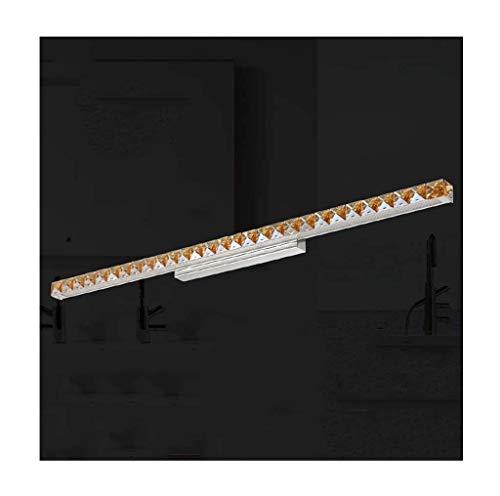 JBP max Spiegelleuchte Bad Licht LED Kristall Spiegel Frontleuchte Moderne Spiegel Kabinett Licht Versenkbare Wandleuchte - JBP29,Whitelight,18W/91CM