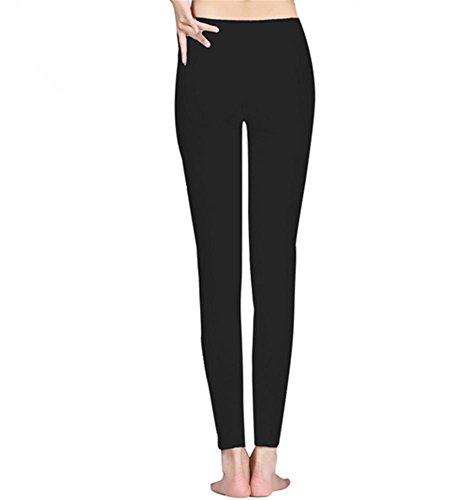 Femme pantalons confortables de yoga maigre gal / danse pantalon de formation Black