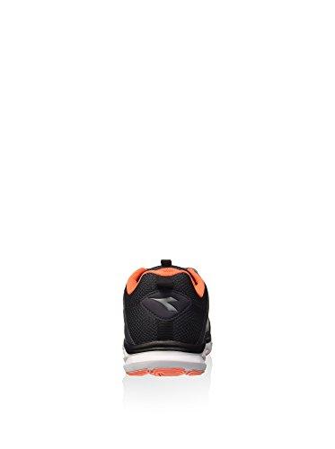 Diadora Hawk 6, Scarpe da Corsa Uomo Nero / Grigio Acciaio