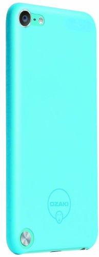 Ozaki-Custodia rigida con motivo a pois, pellicola protettiva schermo per iPhone touch 5, colore: blu blu