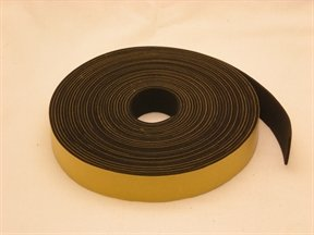 neoprene rubber self adhesive strip 25mm wide x 2mm thick x 10m long