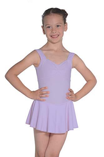 Roch Valley Emilie ärmelloses Ballett Trikot aus mattem Lycra Lila 1B (122-128cm) -