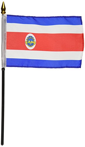 Flagge der US-Fahne Costa Rica, 10,2 x 15,2 cm