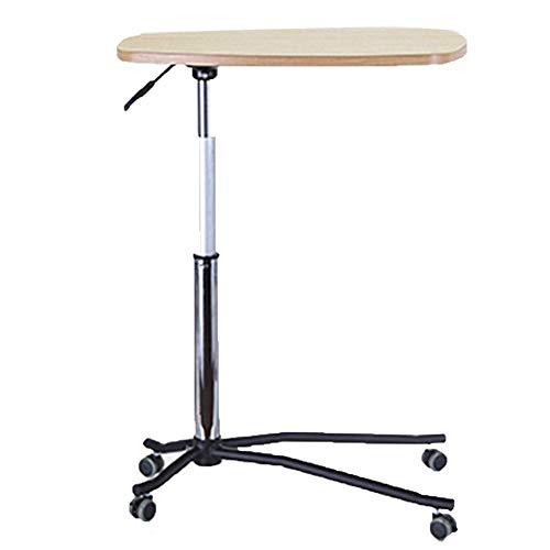Lina Laptop Tisch Verstellbares Bett Fronttisch Notebook Computer Nachttisch Abnehmbarer Schreibtisch, Holz-basierte Platte, 60 * 38,5 * 61-81 cm (Einstellbar) (Farbe : Yellow Oak)
