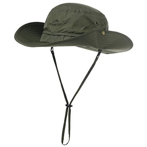 840e22ba Comhats Mens Womens UPF 50 Sun Hat Packable Wide Brim Outdoor Aussie  Outback Safari Bush Hat