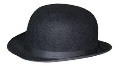 Kostüm Bowler Hut - Melone Bowler Elegant Filz Hut Hüte Kostümzubehör