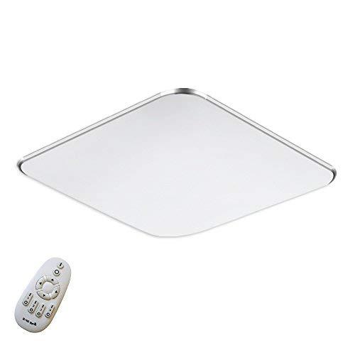 SAILUN 36W Ultra sottile LED Regolabile plafoniera moderno lampada da soffitto per soggiorno, cucina, camera, bagno, hotel - Argento