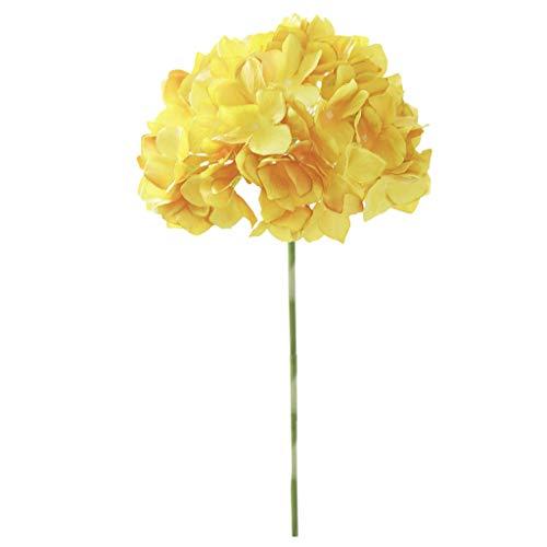Maleya Ausgangsdekor Blumenstrauß Großer köpfiger blattloser Hydrangea-gefälschter Blumen-Hochzeits Wohnaccessoires Deko Künstliche Kunstblumen Fake Seide Pfingstrose Bouquet für - Machen Blumentopf Kostüm