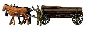 FALLER 154023  - Vagones de madera a largo importado de Alemania