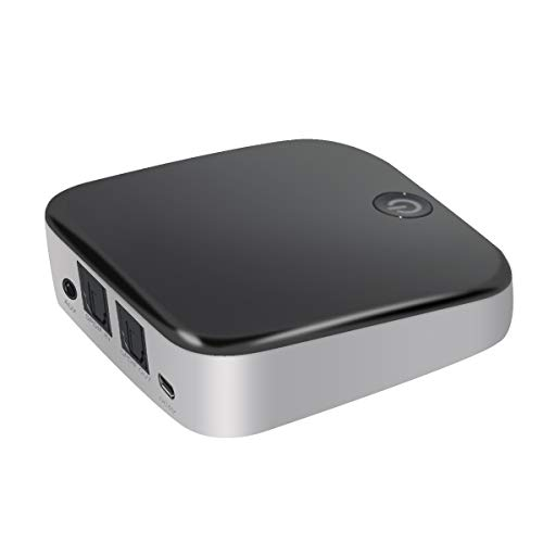 H&T Bluetooth CSR Sender Empfänger, Bluetooth Audio Adapter Digital Optisches Cinch 3,5 Mm Audiokabel für TV/Heim-Stereoanlage Aptx HD Aptx Niedrige Latenz (T-adapter Cinch)