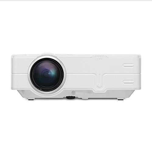 BESTSUGER Video-Projektor, Overhead-Projektor, Haushalts-tragbare LED Mini Pico Projektor eingebaute Lautsprecher kompatibel mit TV HDMI VGA USB AV Laptop Smartphone