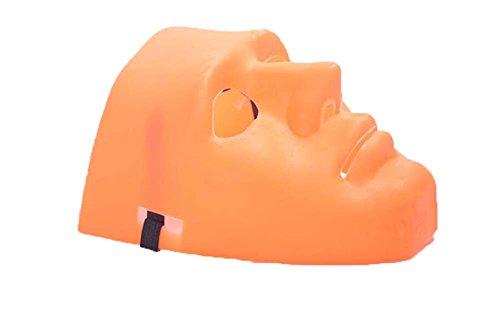 SHU LI Halloween Ball Masquerade Maske Bboy Hip Hop Maske jabbawo Street Dance Party Maske Einheitsgröße Orange