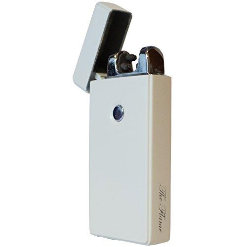 USB Feuerzeug - THE FLAME Lighter Elektronisches Feuerzeuge Aufladbar Double Lichtbogen (Wei&szlig Matt)