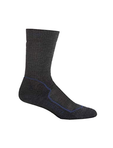Icebreaker Herren Socken Hike Medium Crew, jet hthr/planet/black, XL, IBND09F30 -