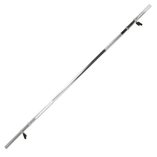 Langhantelstange Chromhantelstange mit Federverschluss - 170 cm lang - für Ha...