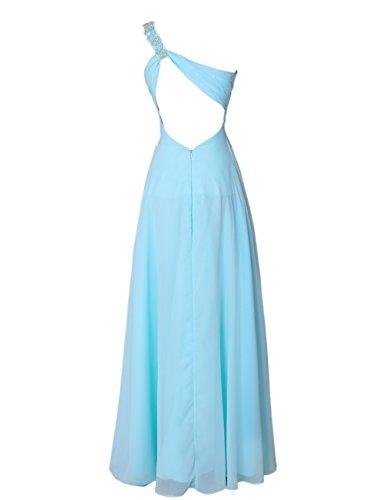 Dresstells Damen One Shoulder Homecoming Kleider Rückenfrei Abendkleider Elfenbein
