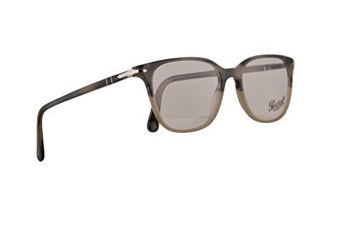 Persol PO3203V Eyeglasses 53-18-145 Stripped Grey Beige Gradient w/Demo Clear Lens 1065 PO 3203V PO 3203-V PO3203-V