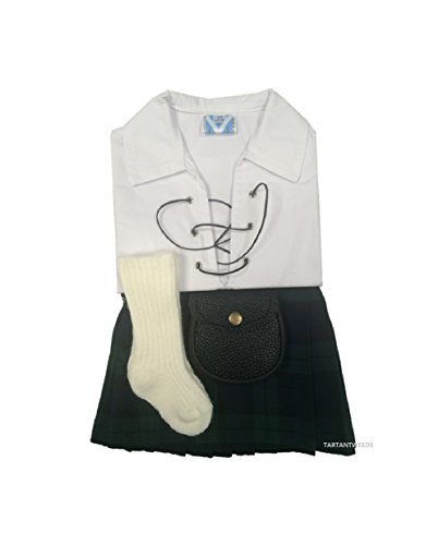 Nero Costume per regolabile Kilt scozzese, Tubo flessibile, Sporran, 0-24mesi - Verde Kilt Tubo