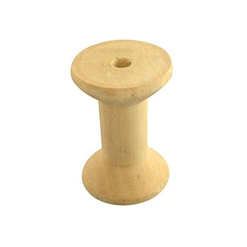 INCREWAY unlackiert Spulen Holz leer Spulen für Draht, Gewinde Spulen, Mokassin, 29~ 30x 20, Loch: 6mm (Draht Lackiert)
