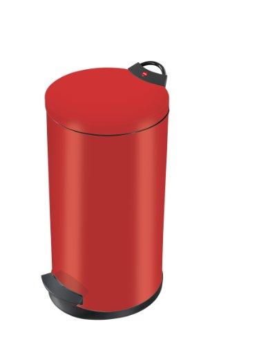 Hailo T2 L, Mülleimer aus Stahlblech, 11 Liter, Müllbeutel-Klemmung, Anti-Rutsch-Füße, Tragegriff, made in Germany, 0520-839