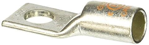 1 Hole Short Barrel Copper Compression Lug with Peep Hole 3/0 AWG - 1/2