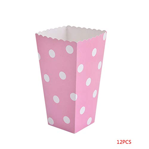Zerama 12PCS / Set Schöne Popcorn Box Süßigkeit sanck Favor Taschen Streifen-Geschenk-Beutel Hochzeitsfestbevorzugung Kinder Kino Party Supplies