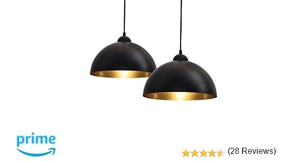 B.K. Licht lot de 2 suspensions vintage, 2 luminaires style industriell,  plafonnier vintage lot de 2, ... 6cc2133fa903