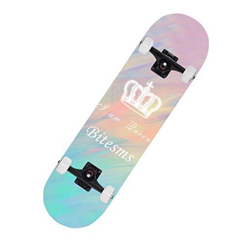GXY Doppelte Verwerfungsart Pinsel Street Travel Professionelles Board Anfänger Jungen und Mädchen Allgemeine Gradient Highway 79 * 20 * 10 Skateboard (Color : PINK, Size : 79 * 20 * 10CM)