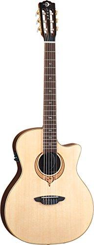 Luna Guitars Heartsong SONG NYLON elektroakustische Folk Gitarre, Lackierung: Mattlack, - Nylon-gitarre Elektro Akustische
