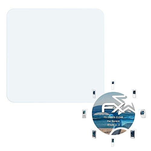 atFoliX Schutzfolie kompatibel mit Garmin Vivofit jr. 2 Panzerfolie, ultraklare & stoßdämpfende FX Folie (3X)