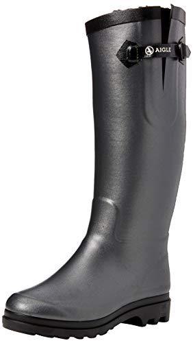 Aigle Damen Aiglentine Fur Gummistiefel, Silber (Metallic/Noir), 39 EU