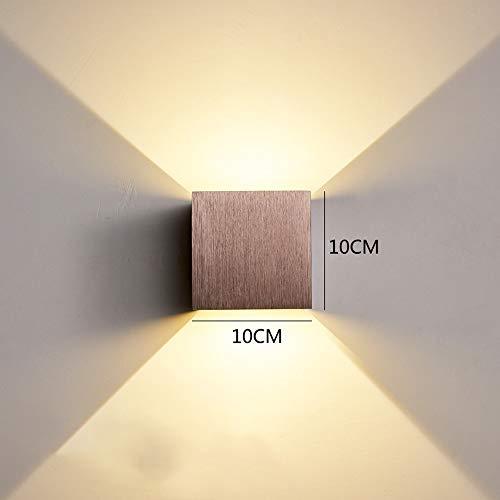 DEPAOSHJ Sieben Farben Optionale moderne Schlafzimmer-Bett-Wand-2-Packs Lichter-Gang-Korridor-Treppen-LED 6W Beleuchtung-Wandlampe 4 Packs Justierbare Strahl-Hintergrund-Wand-wasserdichte Wandlampe