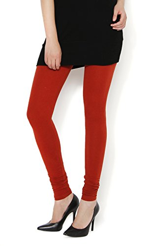 The Gud Look 95% Cotton 5% Spandex Stretch Legging - Rust (34)  available at amazon for Rs.299